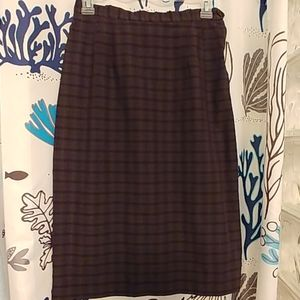 Vintage 60s Seaton Hall Plaid Cotton Pencil Skirt